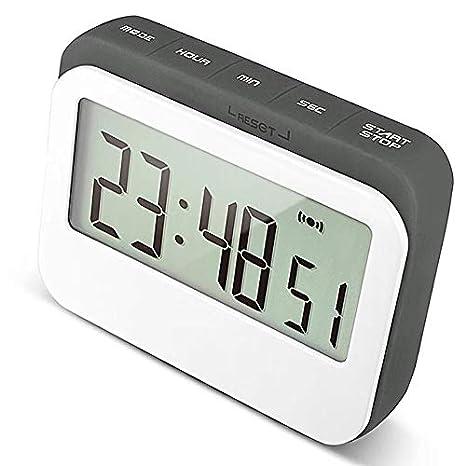 Jayron - Reloj despertador digital temporizador de cocina: Amazon.es: Hogar