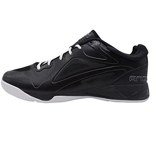 AND1 Aqua Low, Men's Basketball Black - Schwarz (Black/Black-white)