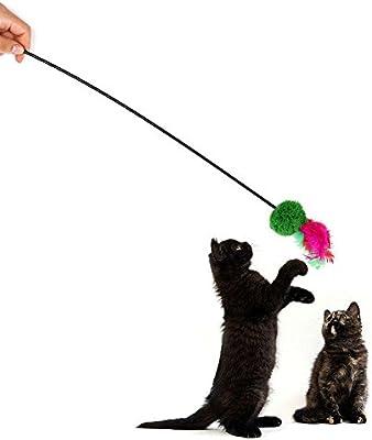 Forart Feather Wand Cat Toy, Cat Kitten Pet Teaser Peluche de ...