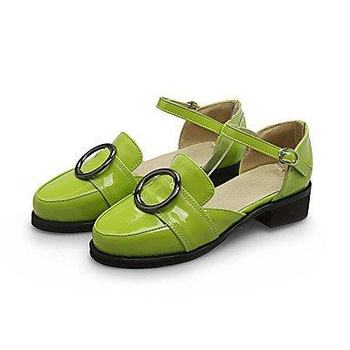 LvYuan Mujer Sandalias Confort Semicuero Primavera Verano Otoño Casual Vestido Confort Hebilla Tacón Robusto Negro Gris Verde 2'5 - 4'5 cms Green