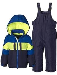 Boys Kids Winter Snowboard Skiing Parka Jacket & Snow Bib Snowsuit Set