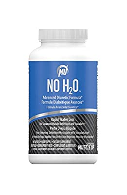 No H2O All Natural Advanced Diuretic Formula Rapid Water Loss Weight Loss Formula with Potassium, Dandelion Root, Uva Ursi and More (80 Capsules) Made in the USA