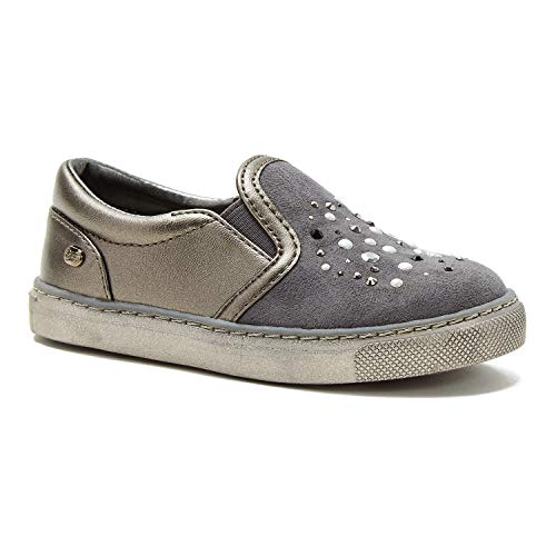 1e0f4dfab475 Naturino Express Kids Pearla Girls Slip On Shoe Fashion Sneaker with  Colorful Studs Loafer