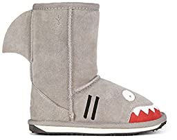 EMU Australia Little Creatures-Shark Snow Boot (Toddler/Little Kid/Big Kid),Putty,9 M US Toddler