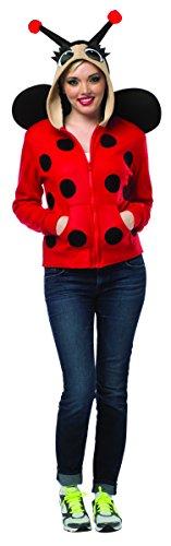 Ladybug Costume Women (Rasta Imposta Lady Bug Hoodie, Red/Black, Medium)