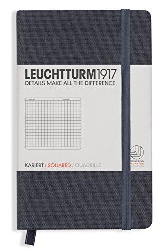 Leuchtturm1917 Pocket A6 Hardcover Linen Notebook (Lined, Grey)