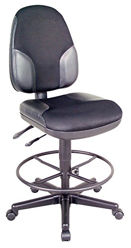 ck High Back Drafting Height Monarch Chair with Leather Accents ()