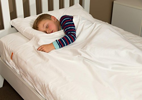 100% Cotton White Kids Zip Sheets to Fit a Full Size Bed - K