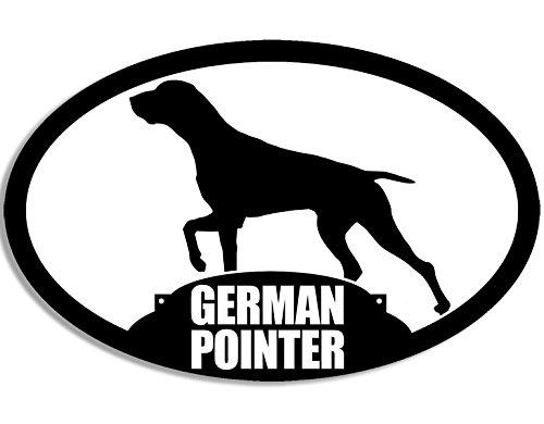 - American Vinyl Oval German Pointer Silhouette Sticker (Dog Hunting Breed)