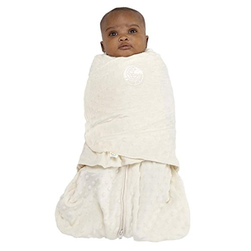 SleepSack Swaddle, Velboa Plush Dots Color Cream