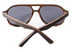 MENSDA Ultra-light Wooden Frame Hit Color Sunglasses for Summer Beach