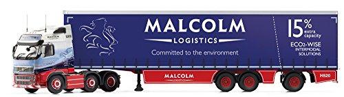 1/50 ボルボFH(フェイスリフト) スーパーカーテンサイドトレーラー `W H Malcolm` CC14032