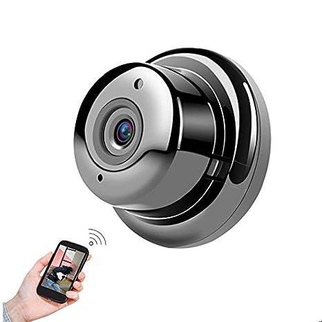 POIIUYY VR Mini cámara inalámbrica WiFi cámara de visión Nocturna por Infrarrojos IP cámara pequeña cámara de detección de Movimiento: Amazon.es: ...