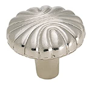 Amerock BP1337G9 Natural Elegance Shell Knob, Sterling Nickel, 1-7/32-Inch Diameter