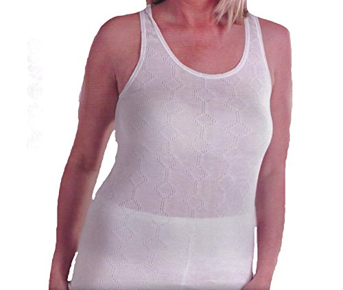 Womens Themal algodón ropa interior correa chaleco corto manga larga Top calentador de invierno Top Cami chaleco MUSCLE VEST