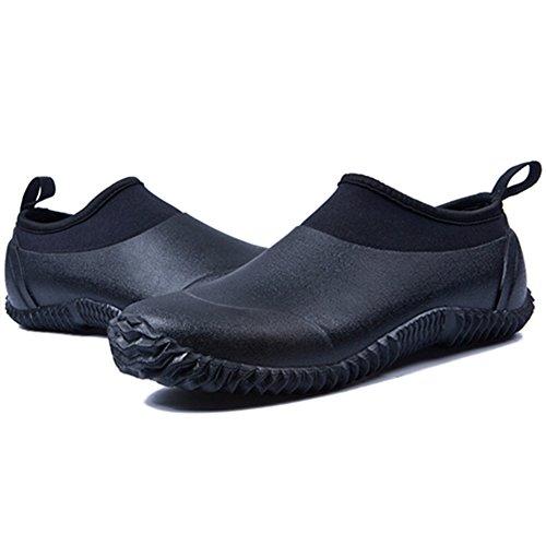 Boots Car Garden Wash Short Footwear Men's Women's JOINFREE Rain Low Pure Shoes Ankle Shoes Outdoor Black EvqnHxRT