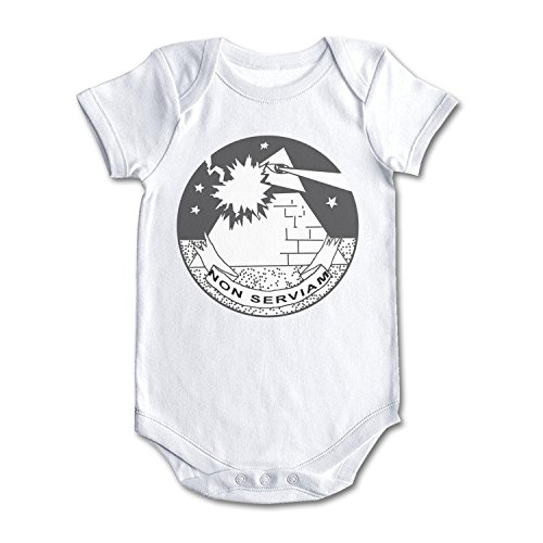 Pyramid Non Serviam Eye and Lightning Cool Design Baby Girl Boy Newborn Clothes White