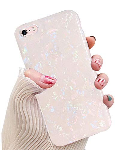J.west iPhone 8 Case, iPhone 7 Case for Girls,Cute Luxury Sparkle Bling Crystal Clear Slim Flexiable Bumper Shockproof TPU Soft Rubber Silicone Back Cover Phone Case for iPhone 7 Iphone 8 4.7 Colorful