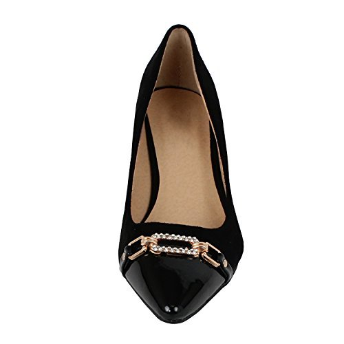 Toe Shoes New Tuxedo Black - Guilty Shoes - Aubree 12-Black, 9
