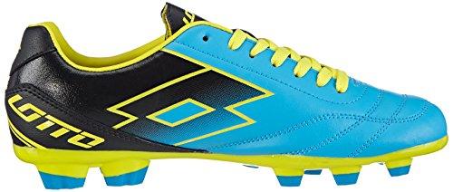 Lotto Sport SPIDER X TX - Botas de fútbol de goma para hombre multicolor - Mehrfarbig (FL BLUE/BLACK)
