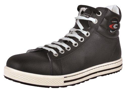 Cofra 35030-001 - Zapatos de seguridad de alto bloque s3 botas viejas glorias del tobillo, tamaño 42, negro,