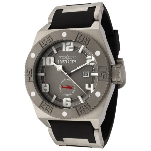 Invicta Men's 0322 I Force Collection Black Polyurethane Watch