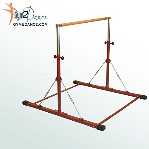 Gym 2 Dance Gymnastics Bar Adjustable 3′ to 5′ Model LE Red