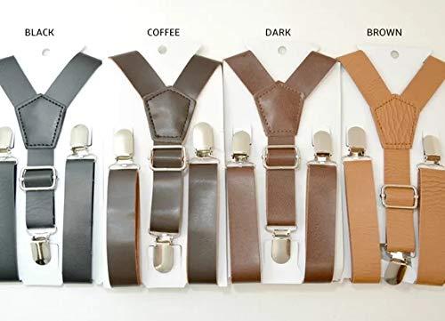 Bretelle vintage in pelle marrone rustico marrone scuro marrone scuro per  uomo Bretelle (Caffè)  Amazon.it  Abbigliamento d0b232f72613