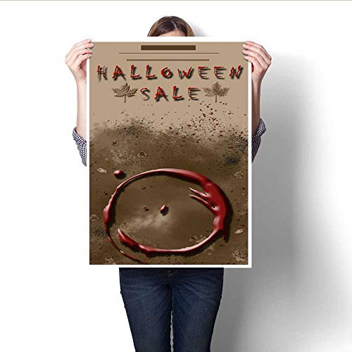 Hanging Painting Halloween Sale Festival Event Announcement Vertical Template in Spice Colors Ready to Hang for Home Decorations Wall Decor -