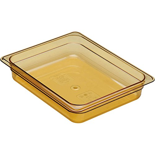 - Cambro 1/2 GN Steam Table Pans, High Heat Plastic, 2.5