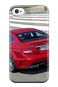 Fashionable Style Case Cover Skin For Iphone 4/4s- Mercedes C 63 Amg Coupe Black Series Rear And Side Speed Circuit Red Cars Mercedes wangjiang maoyi by lolosakes