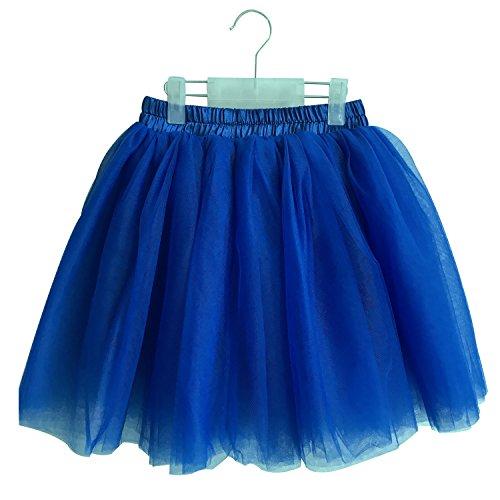 [Halloween Girls Tutu Ballet Dance Dress Up Tulle Skirt, 3-10T (Royal Blue)] (Spirit Halloween Return Policy)