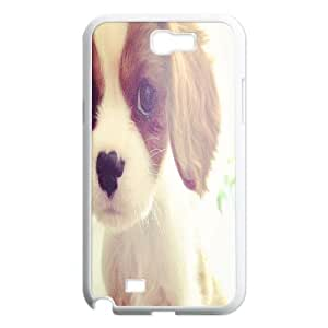Customized Cute puppy Phone Case, Personalized Hard Back Phone Case for Samsung Galaxy Note 2 N7100 Cute puppy