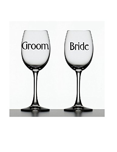 Bride & Groom Decals ~ Set of 2 Decals ~ 2