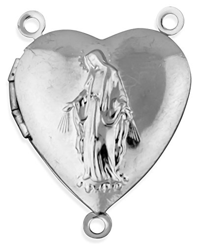 Pack of 5 Our Lady of Grace Locket Rosary Centers