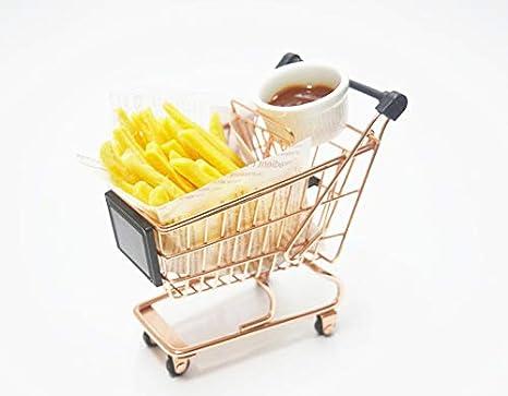 Mini carrito de compras | Mini estante de juguete y bolsa de almacenamiento | Cesta de