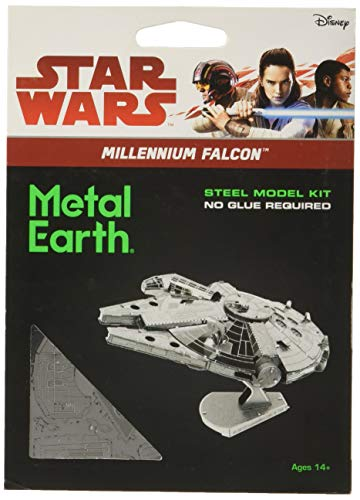Fascinations Metal Earth Star Wars Millennium Falcon 3D Metal Model Kit (Star Wars Metal World)