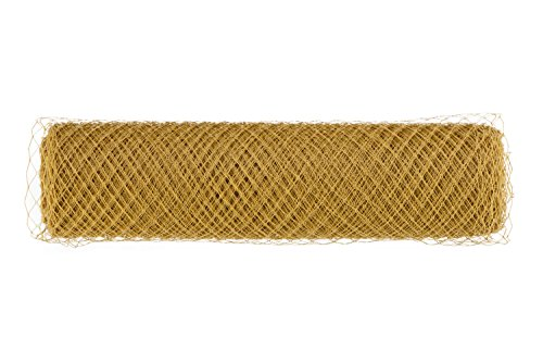 Birdcage Veil Netting Fabric Bridal Wedding Fascinator Millinery French B003 (#1 Gold)