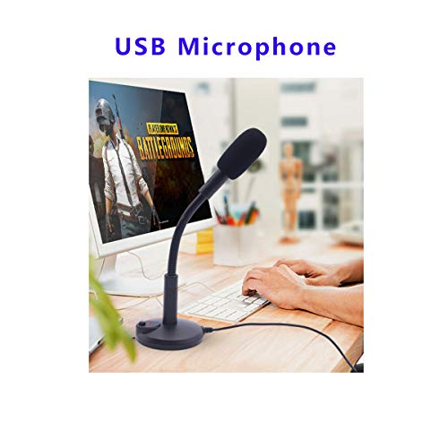 USB Microphone, Plug &Play PC Microphone with LED Indicator, Omnidirectional Condenser Microphone with Mute Button, Computer Microphone for Computer/Laptop /Desktop/Windows/Mac, Ideal for Youtube, Sk by SGYD (Image #1)