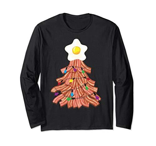 Bacon Christmas Tree Egg Top Shirt | Funny Pork Lover Gift