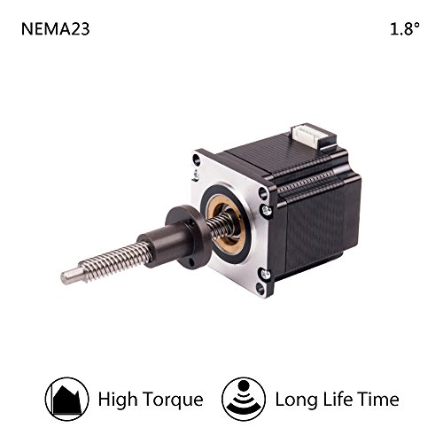 Moons' 153mm T10105 Lead Screw Integrated Stepper Linear Z Axis 1.8 Degree 3A NEMA 23 Linear Stepper Motor for 3D Printer CNC Router Milling Machine(Wire Harness01891 Includes)