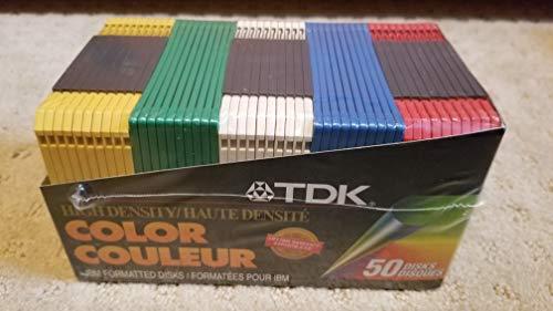 TDK High Density Color IBM Formatted Disks, 50 Disk for sale  Delivered anywhere in USA