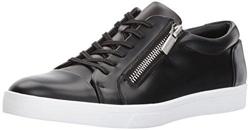 Calvin Klein Men's Ibrahim Fashion Sneaker, Black Box Leather, 12 M US