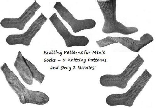 Para los hombres los patrones de tejer calcetines – 4 patrones que hacen punto y sólo