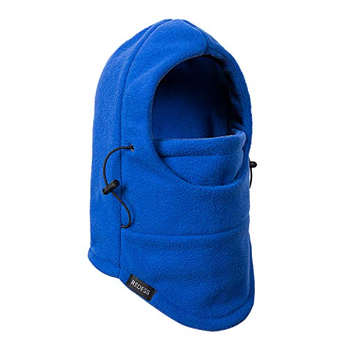 Price comparison product image REDESS Kids Winter Windproof Hat, Unisex Children Heavyweight Balaclava, Ski Mask with Thick Warm Fleece Face Cover for Kids Blue