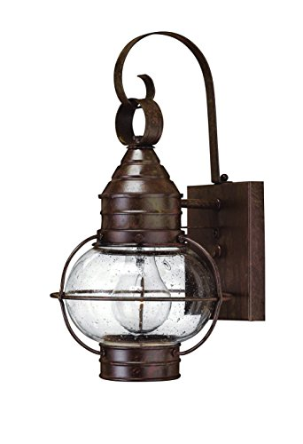 Hinkley 2206SZ Rustic One Light Wall Mount from Cape Cod collection in (Cape Cod Outdoor Fixture)