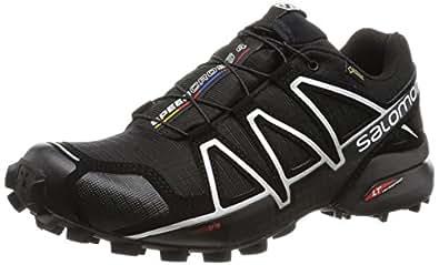 Salomon Men's Speedcross 4 GTX Trail Running Shoes, Black, 10 M US