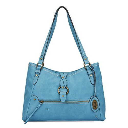 B.O.C. Pebbled Faux Leather Shoulder Bag - Colorful Design and Summer Feel