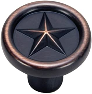 Merveilleux Hardware House 64 4286 Texas Star Style Cabinet Knob, Classic Bronze