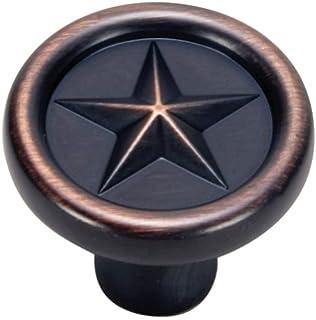 Hardware House 64 4286 Texas Star Style Cabinet Knob, Classic Bronze